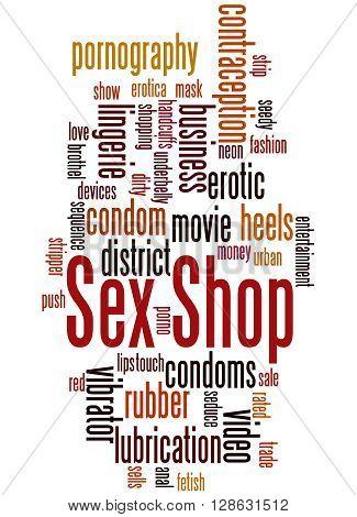 Sex Shop, Word Cloud Concept 6