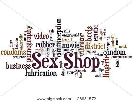 Sex Shop, Word Cloud Concept 8