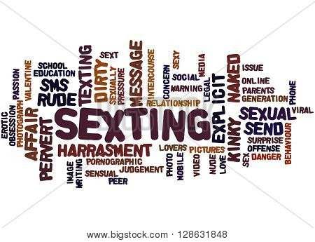 Sexting, Word Cloud Concept 8
