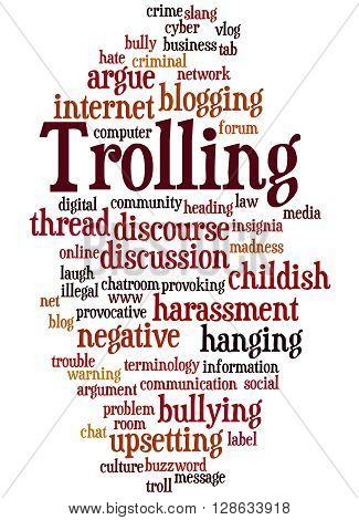Trolling, Word Cloud Concept 6