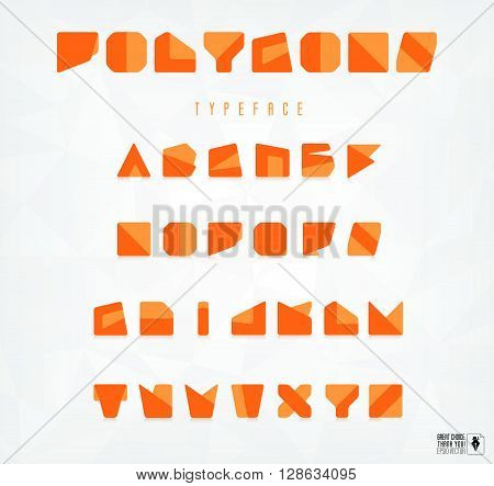 Abstract polygonal pattern on background polygonal font flat font flat design material design a slider in the website