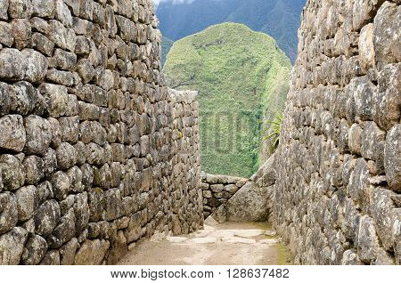 South America Peru Machu Picchu the lost ancient incas town on the Inka Trail