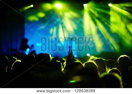 People enjoying music of their favorite singer