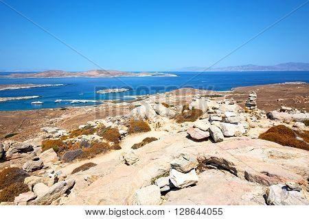 Famous   In Delos Greece   Old Ruin Site