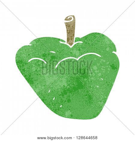 freehand retro cartoon organic apple