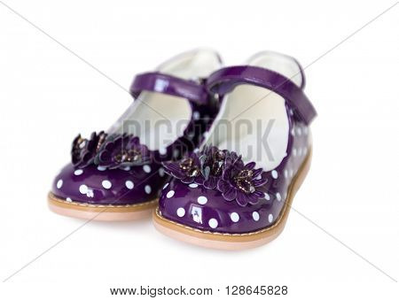 nice spotted purple shoes for little girls