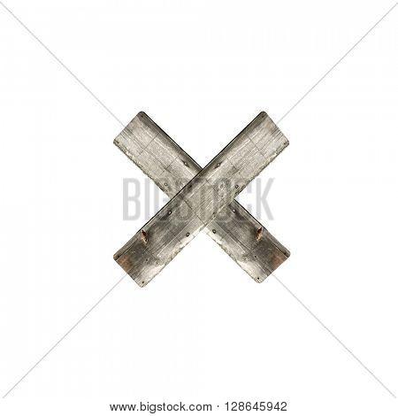 Letter X on white