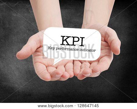 KPI written on a speechbubble