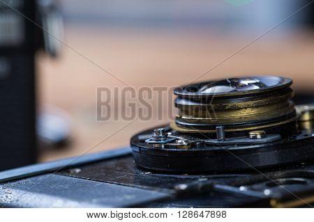 Disassembled Film Camera