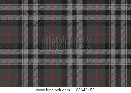 Silver tartan fabric texture seamless pattern .Vector illustration. EPS 10. No transparency. No gradients.