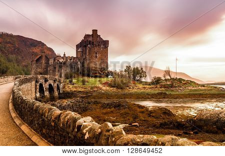 Eilean Donan Castle on the west coast of Scotland in the United Kingdom
