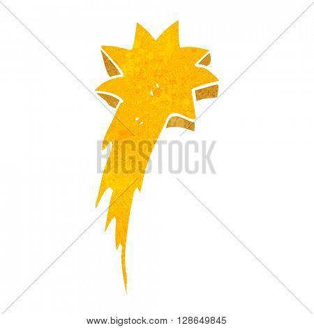 freehand retro cartoon shooting star symbol
