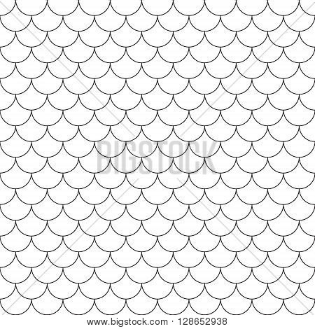 fish scales simple seamless pattern .Vector illustration. EPS 10.