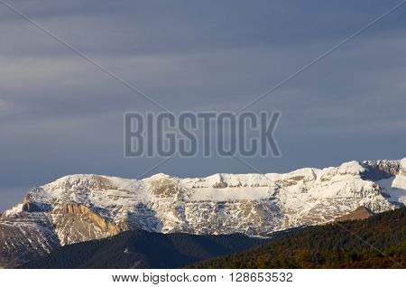 Tendenera Mountains in Tena Valley, Pyrenees, Huesca, Aragon, Spain.