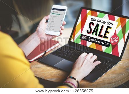 Sale Cheap Commerce Discount Promotion Selling Concept
