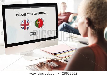 Portugal English Communication Language Concept