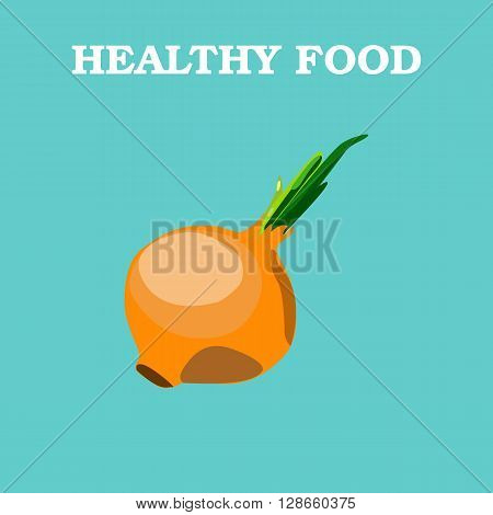 Onions icon. Flat style vector illustration. Vegetarian food. Healthy lifestyle. Raw food diet
