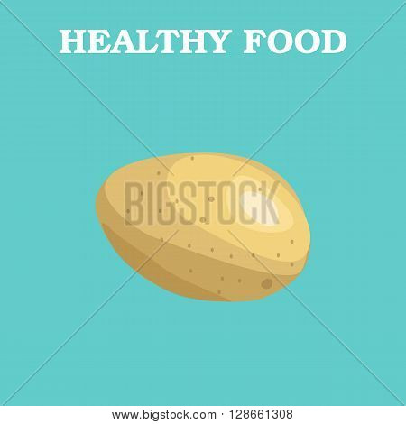 Potato icon. Flat style vector illustration. Vegetarian food. Healthy lifestyle. Raw food diet