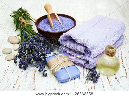 Lavender, Sea Salt And Massage Oil