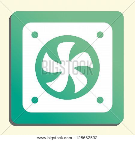 Fan Icon In Vector Format. Premium Quality Fan Symbol. Web Graphic Fan Sign On Green Light Backgroun