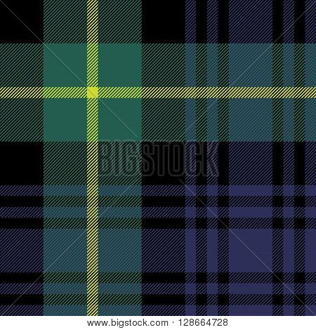 gordon tartan fabric texture seamless pattern.Vector illustration. EPS 10. No transparency. No gradients.