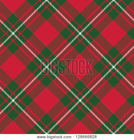 Macgregor tartan kilt fabric textile diagonal pattern seamless.Vector illustration. EPS 10. No transparency. No gradients.