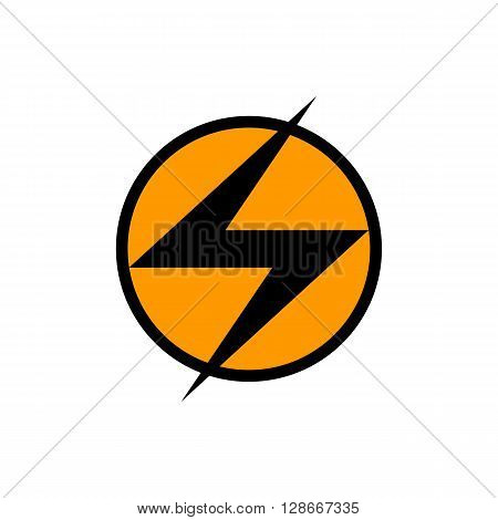 Illustration of high voltage electric sign isolated on the white background.