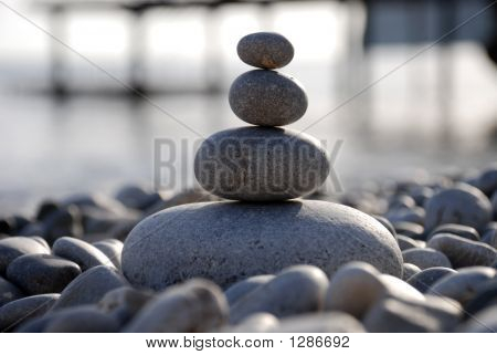 Pebble On A Seashore