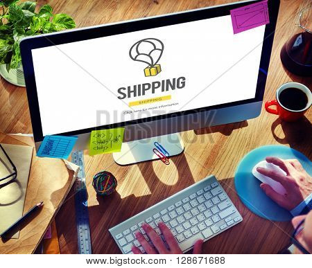 Shipping Carrier Freight Import Export Logistics Concept