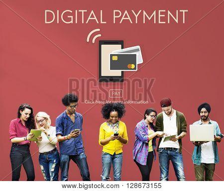 Digital Payment E-commerce Shopping Online Concept