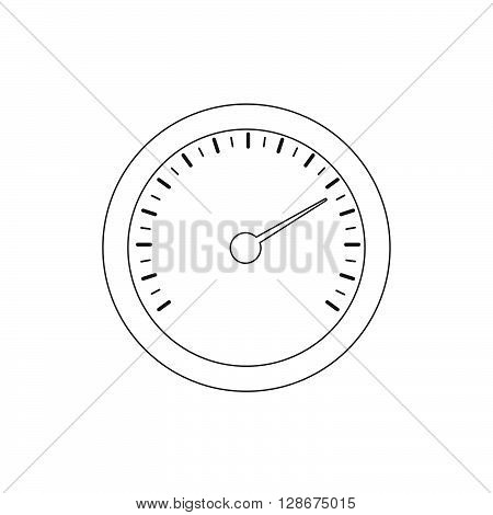 Temperature gauge icon. Stock vector. Vector illustration.