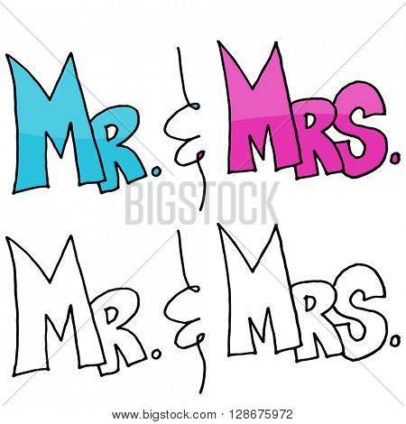 An image of a Mr. and Mrs. Message.