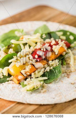 Grilled Vegetables Wraps