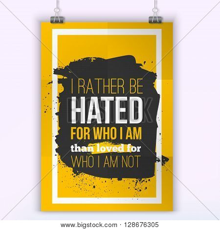 Be who you want to be Typography quote for t shirt fashion, wall art prints, mock up, home interior poster card, typographic composition, vector illustration