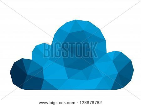 Polygonal cloud computing concept world internet comunication network