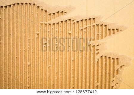 Corrugated striped cardboard for background texture - vertical line pattern
