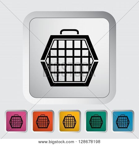 Pet carrier icon. Flat vector related icon for web and mobile applications. It can be used as - logo, pictogram, icon, infographic element. Vector Illustration.