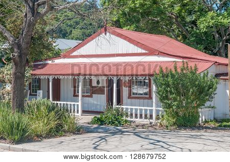KNYSNA SOUTH AFRICA - MARCH 3 2016: Millwood House part of the Knysma Museum Complex which comprises historic timber and corrugated iron buildings