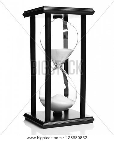 New hourglass isolated on white