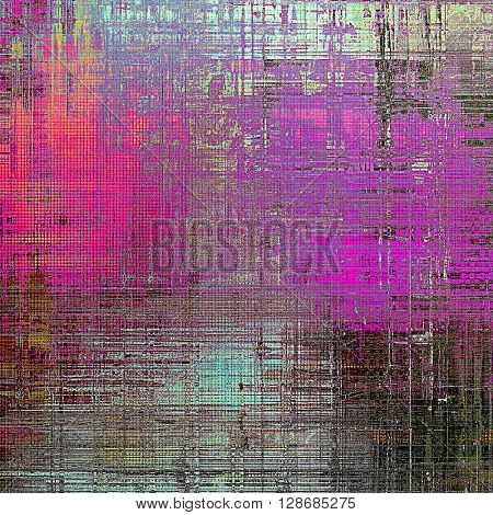 Colorful grunge background, tinted vintage style texture. With different color patterns: brown; gray; red (orange); purple (violet); pink; cyan