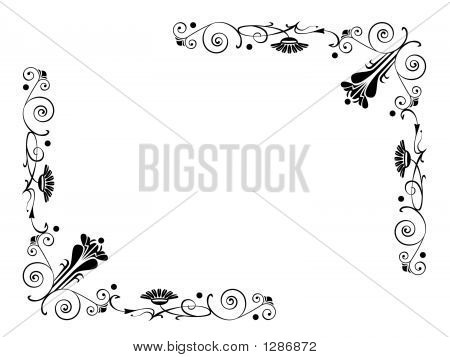 Scrolling Flowers With Swirls And Dots