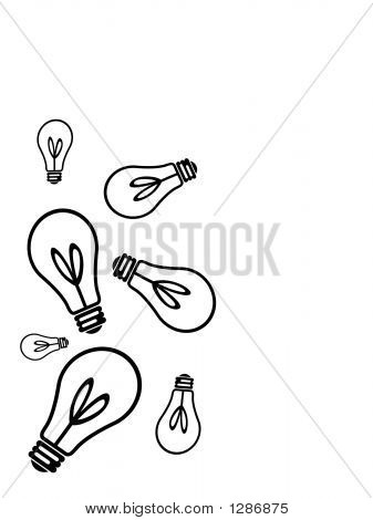 Lightbulb1Light Bulbs In Various Sizes And Positions.