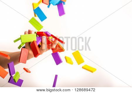 Falling Colorful Domino