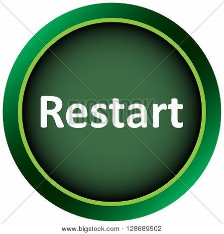 Icon the button with the word restart