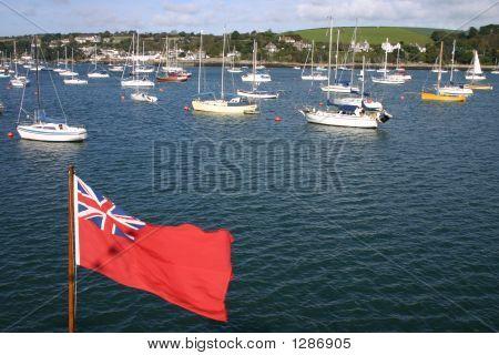 Falmouth Boats And Union Flag