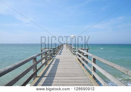 Pier of Rerik at Baltic Sea in Mecklenburg western Pomerania,Germany