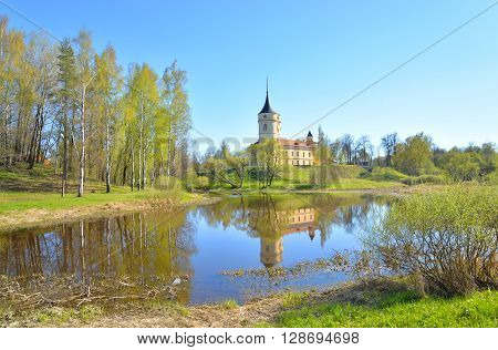 View of the Castle Mariental the residence of emperor Paul I in Pavlovsk on the outskirts of St. Petersburg Russia.