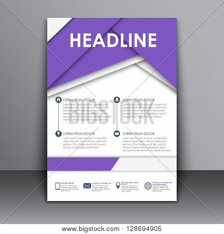 Template Flyer With Information For Advertising