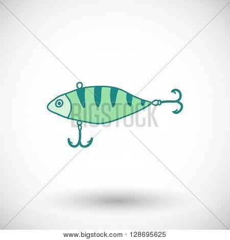 Fishing lure sketch. Hand-drawn fishing wobbler icon. Doodle drawing. Vector illustration