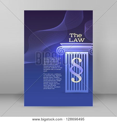 Modern design style infographic for Legal & law firm. Vector illustration eps 10. Can be used for business presentation or brochure template the justice office notary company business card lawyer